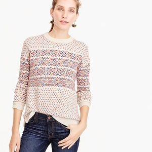 J Crew Colorful Fair Isle crewneck sweater M